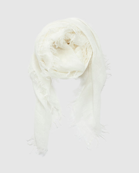 Linen Scarf | Winter White