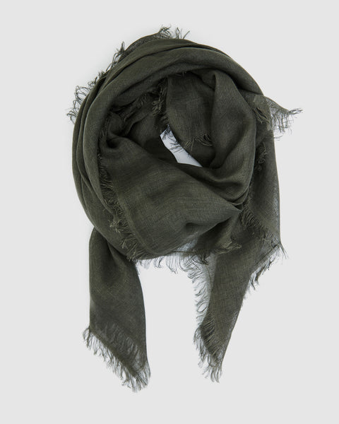 Linen Scarf | Forest