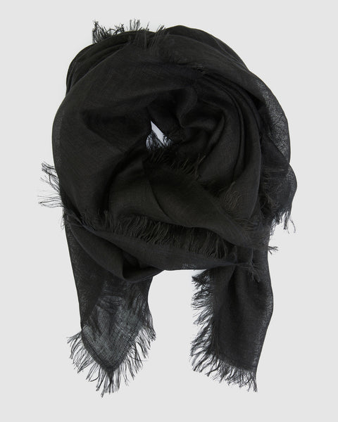 Linen Scarf | Midnight