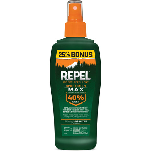 Repel Sportsmen Max Formula Insect Repellent, 6oz Pump Spray, 40% DEET