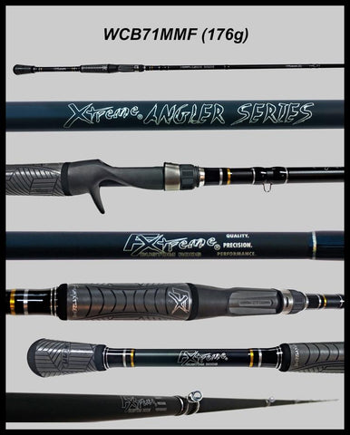 "FX Custom Rods  7'1"" Medium Mod-Fast Cranking-Blended Graphite- Casting Rod"
