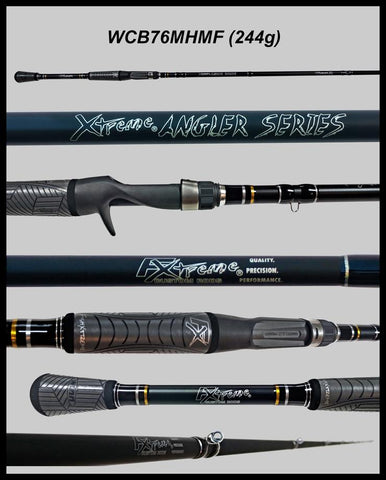 "FX Custom Rods  7'6"" Medium Hvy Mod-Fast Cranking-Blended Graphite- Casting Rod"
