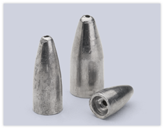 Bullet Weight Inc. Lead Bullet Weights Unpainted 1/32oz - 1oz