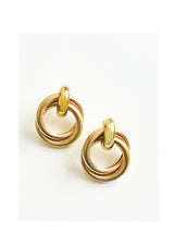 Gold Double Loop Earrings