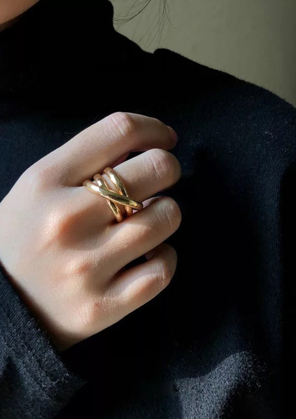 Gold Minimalist Cuff Ring