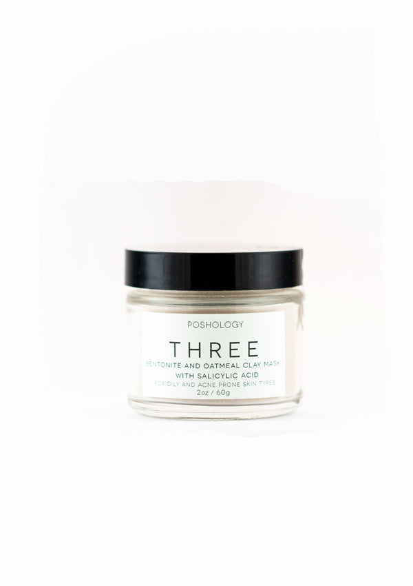 Three Medicated Clay Mask (2oz)