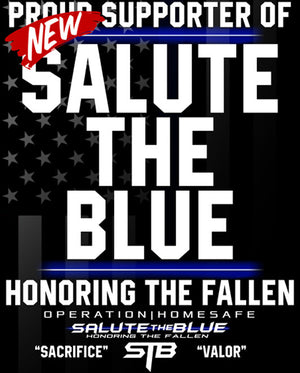 16x20 SALUTE THE BLUE | HONOR THE FALL BOARD PRINT