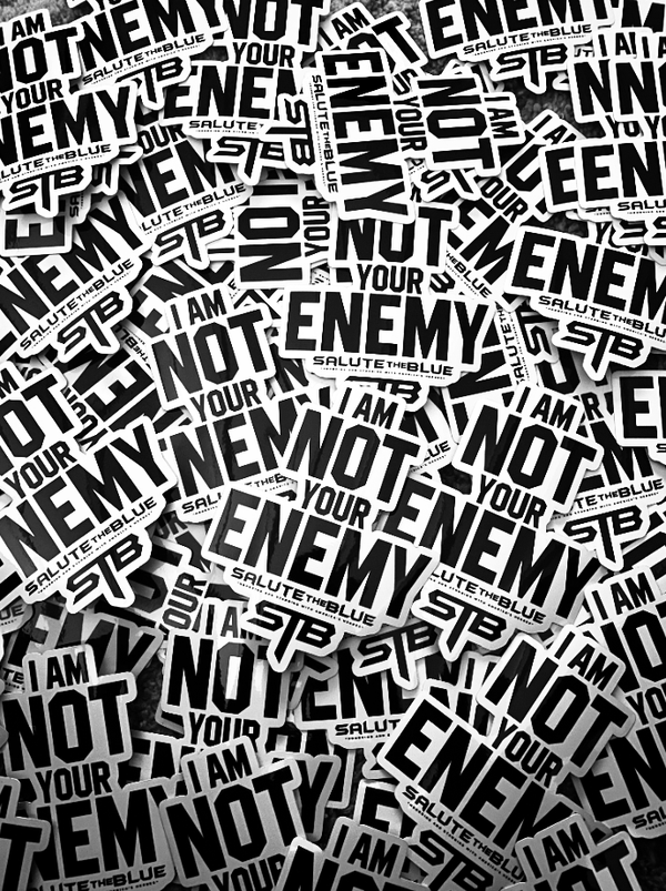"""I AM NOT YOUR ENEMY"" DIE-CUT VINYL STICKER"