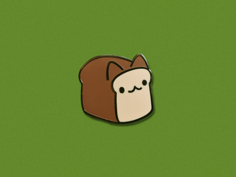 Cat Bread Hard Enamel Pin