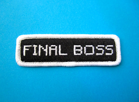 Final Boss Iron-On Patch
