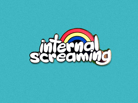 Internal Screaming Hard Enamel Pin
