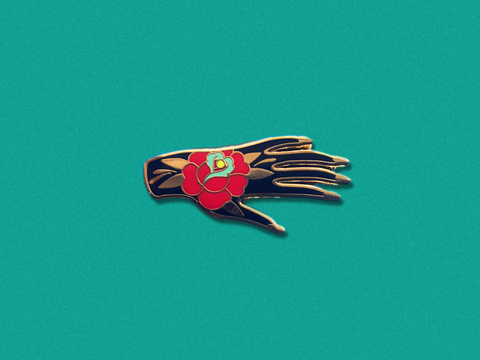 The Hand Hard Enamel Pin