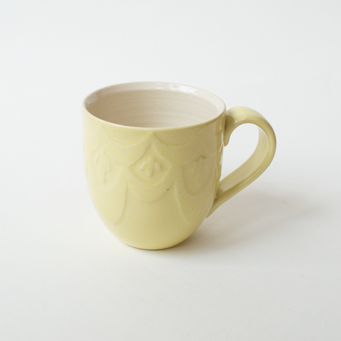 Art Deco Etched Mugs