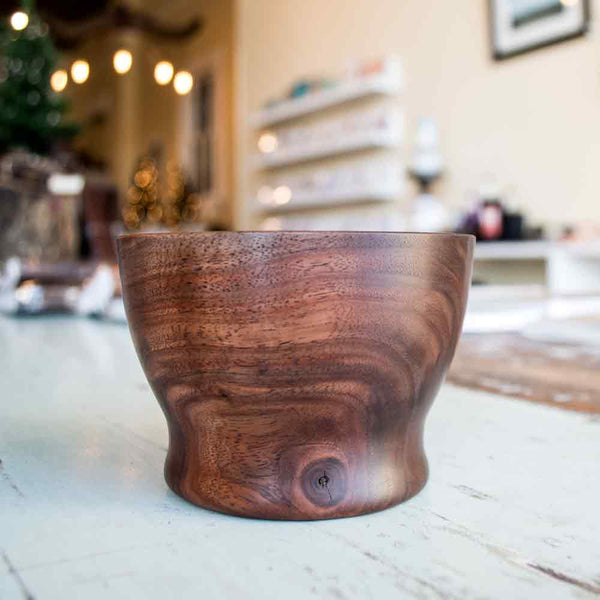Small Footed Walnut Bowl