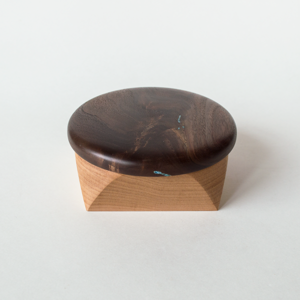 Maple Walnut Blue Resin Canister