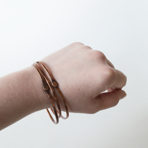 Words of Inspiration Copper Bangles