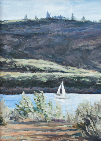 """Sailing Blue Mesa"" Original Oil Painting"