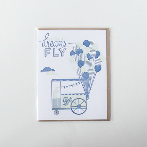 """Let Your Dreams Fly"" Card"