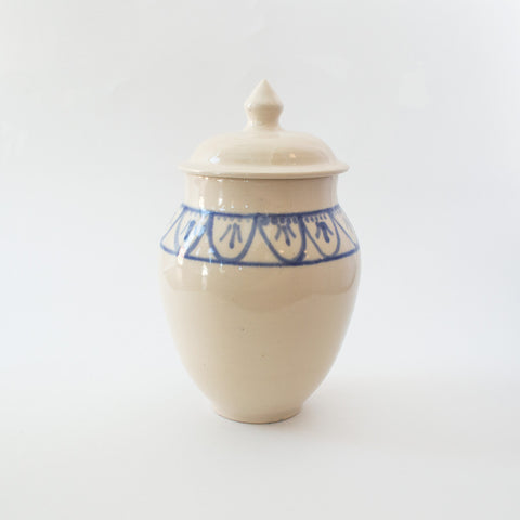 Cobalt Art Deco Jar