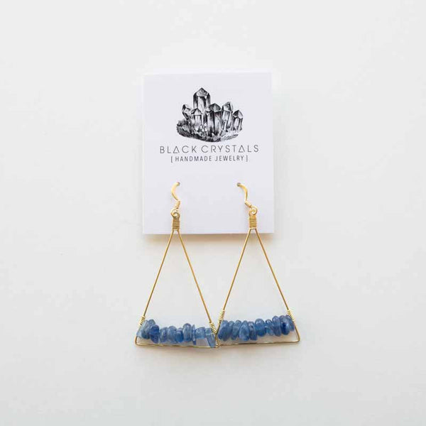 Kyanite Triangle Earrings