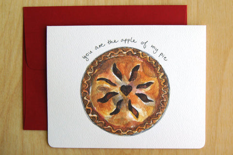 """Apple of my Pie"" Card"