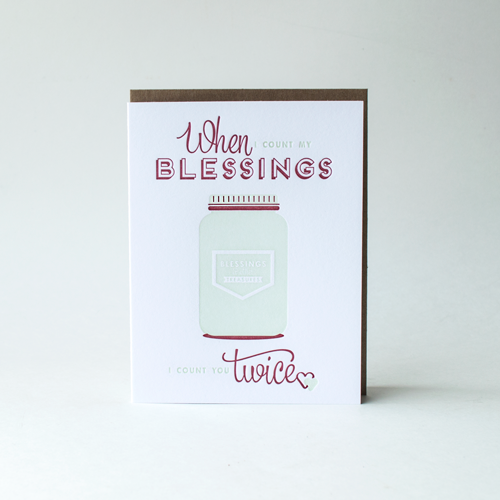 """Count Your Blessings"" Card"