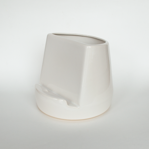 Ceramic Tablet Dock - White