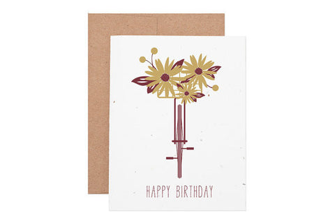 Bicycle Seeded Birthday Card