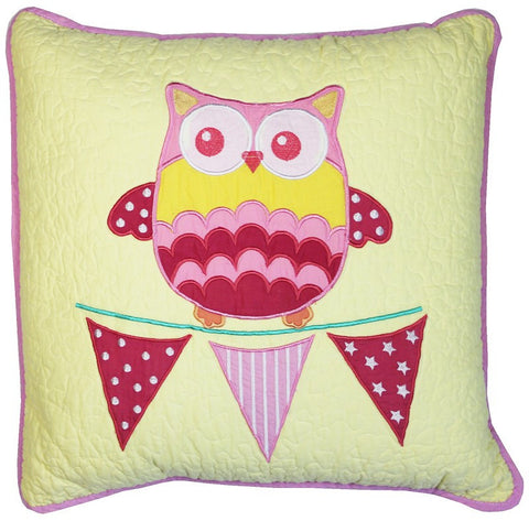 Hoot Hoot Owl Square Cushion Cover