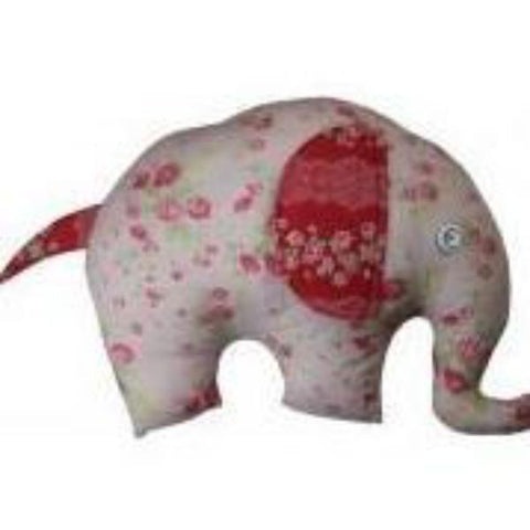 Emma Elephant Cushion in Pink