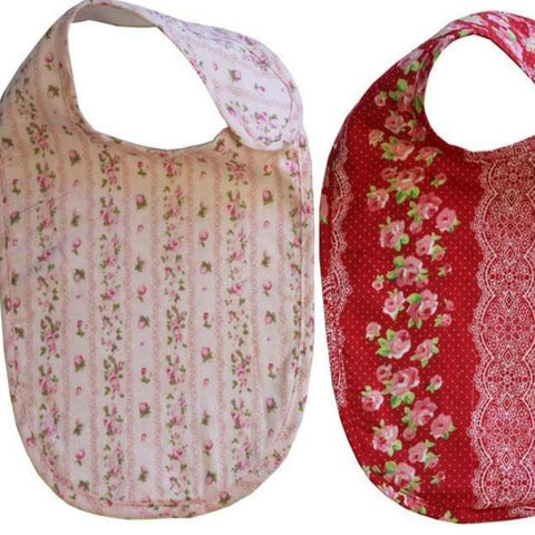 Emma Floral Newborn Baby Bibs Set of Two