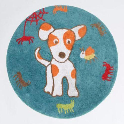 Oliver Puppy Floor Rug Kids Bedroom Home Decor