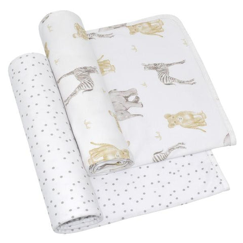 2 Pack Jersey Swaddle Wraps Savanna Babies / Pitter Patter