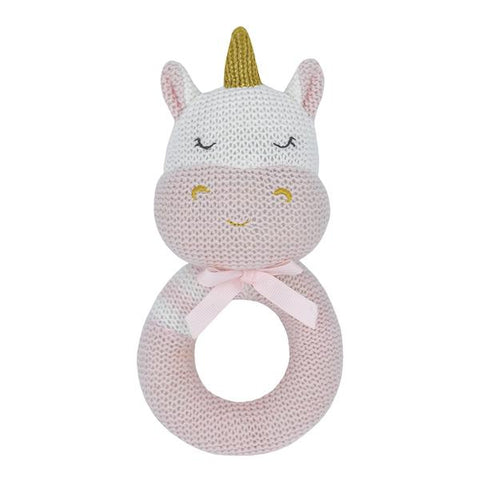 Kenzie Unicorn Grab Rattle  Newborn Baby Shower Gift Idea