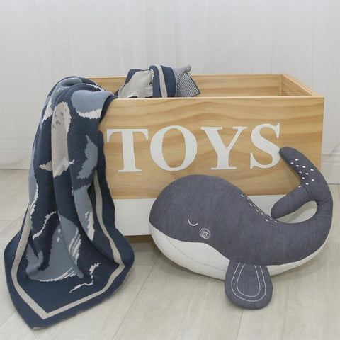 Walter the Whale Oceania Children's Novelty Toy Cushion