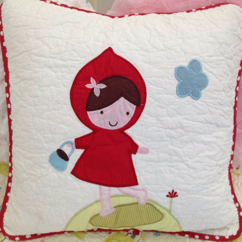 Little Red Square Cushion Cover