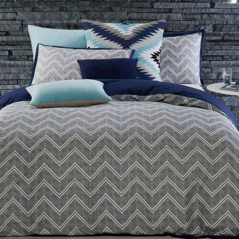 Asha Ink Navy Quilt Cover Sets