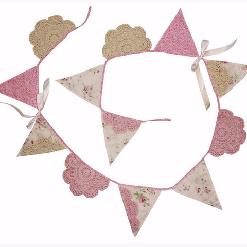 Mia Lace Bunting Nursery Decor