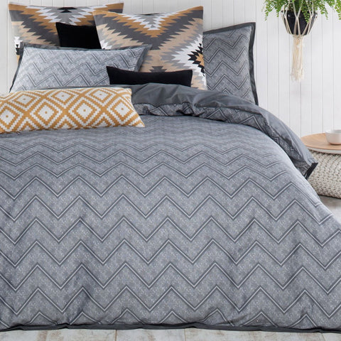 Asha Charcoal Quilt Cover Sets Sale