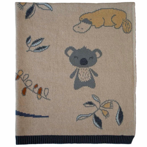 Outback Cotton Knit Baby Blanket Indus Design