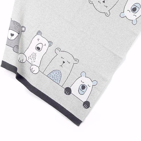 Henry Bears Baby Blanket Cotton Knit Gift Boxed