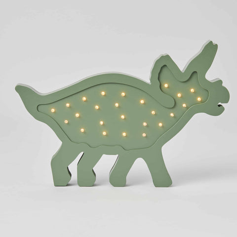 Triceratops Green Wooden LED Light