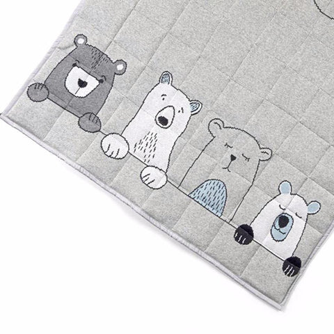 Henry Bear Family Baby Play Mat Blanket Quilt