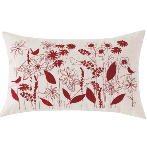 Blyton Decorator Cushion in Red
