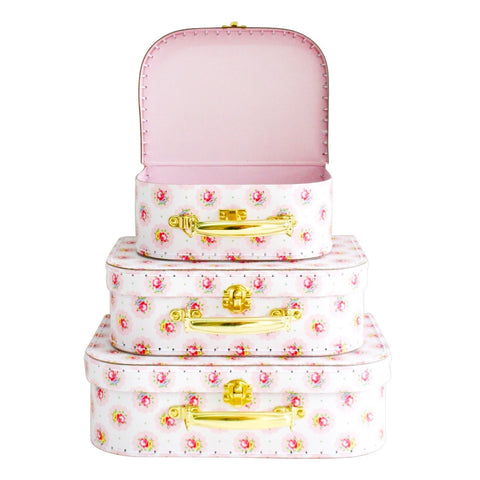 Alimrose Floral Medallion Kids  Set Of Three Carry Cases