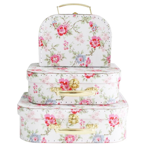 Alimrose Cottage Rose Kids  Set Of Three Carry Cases