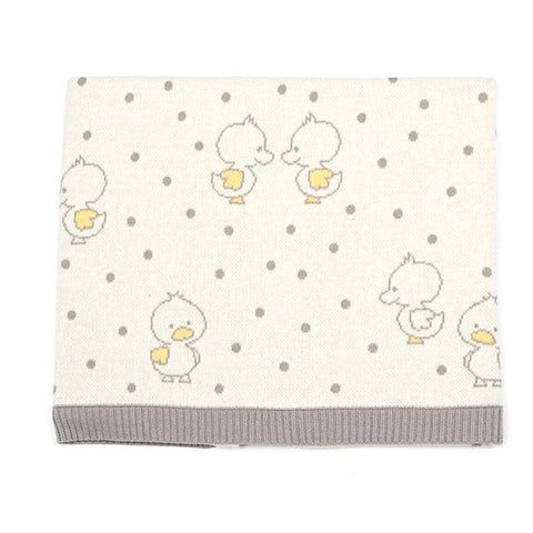 Duck Duck Baby Blanket Cotton Knit Gift Boxed