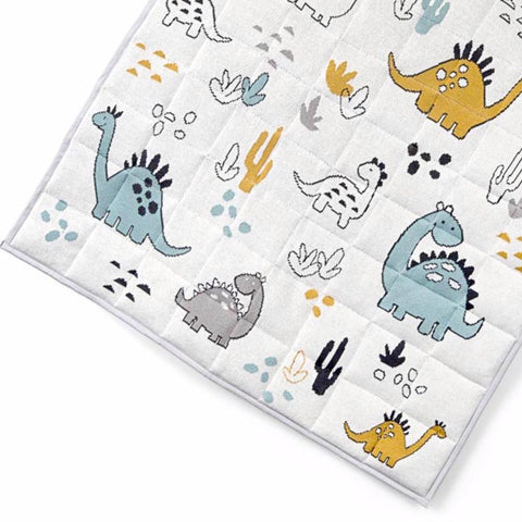 Dino Dinosaur Baby Toddler Quilted Play Mat Nursery Blanket Quilt