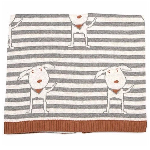 Doug Dog Cotton Knit Baby Blanket Indus Design