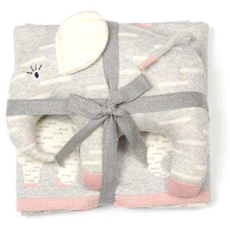 Pink Elephant Baby Blanket & Toy 2 piece Gift Set